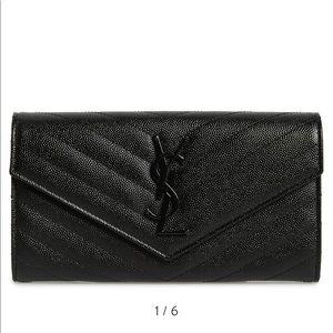 YSL long envelope wallet